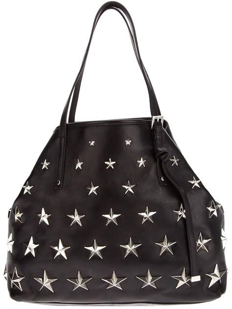 jimmy choo bacchus studded tote bag  black lyst