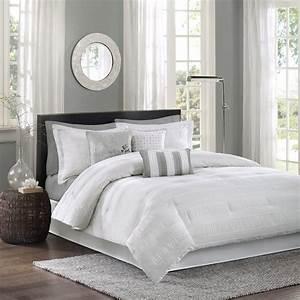 White, Bedding, Set, King, Comforter, 7, Piece, Luxury, Hotel, Collection, Sham, Hampton