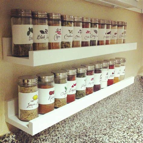 etagere a epice cuisine diy spice rack recipris