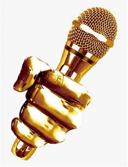 Microphone Transparent Golden Clipart Kindpng