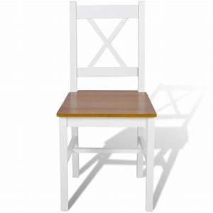 acheter 4 pcs chaise salle a manger en bois blanc et With salle À manger contemporaineavec chaise bois blanc pas cher