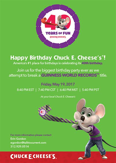 chuck  cheeses    world record