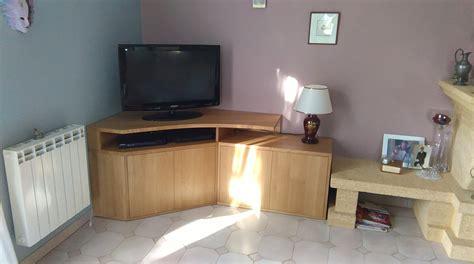 pose meuble cuisine conception et fabrication d un meuble tv d angle sur mesure en chêne massif eb 39 hen david