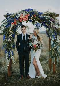 wedding arches and columns for sale blue pink and white outdoor vintage wedding arch