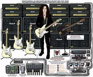 A Detailed Gear Diagram Of Yngwie Malmsteen U0026 39 S Stage Setup