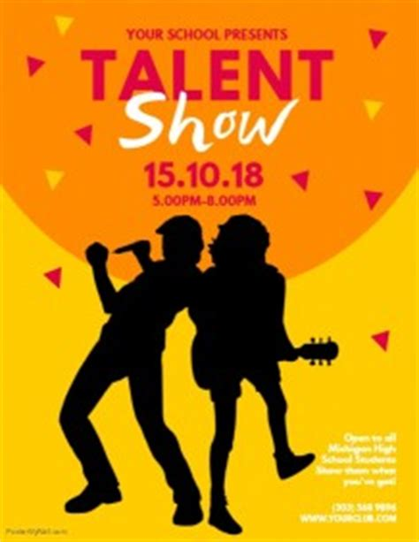customizable design templates  talent show postermywall