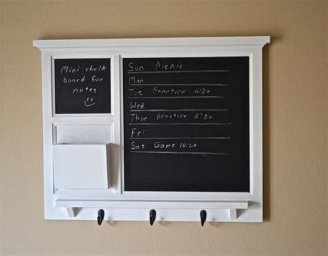 Kitchen Organizer Chalkboard by White Mail Organizer Chalkboards Letter Holder Key Coat