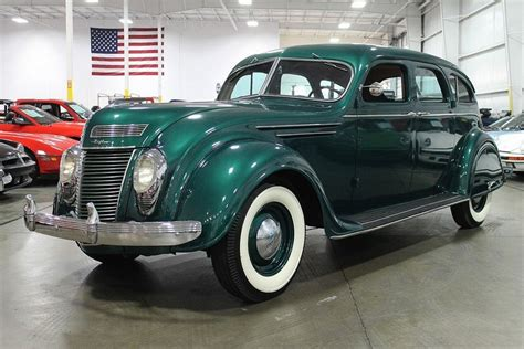 Green Metallic 1937 Chrysler Airflow For Sale