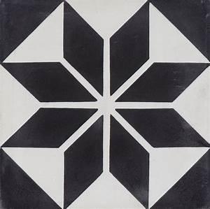 Carreaux Du Marais : carreau ciment 20x20 cm etoile noir blanche carrelages du marais comme un air d 39 ternit en ~ Melissatoandfro.com Idées de Décoration