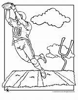 Coloring Football Popular sketch template