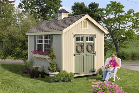 williamsburg colonial wooden outdoor garden shed kit 8 x