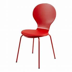 Chaise Rouge Design : chaise rouge int gral avec coussin v ronique achat vente chaise soldes d t cdiscount ~ Teatrodelosmanantiales.com Idées de Décoration
