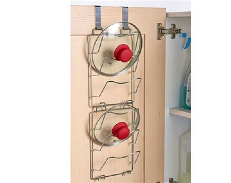 Set 2 Over The Door Pan Lid Storage * Cupboard 6 Pot Rack