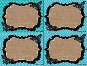 tags butterfly blue black burlap theme  emily