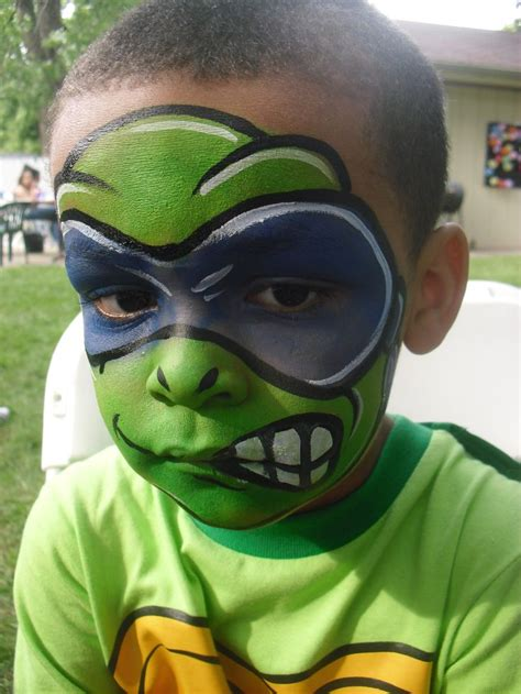 ninja turtle face paint ideas  pinterest