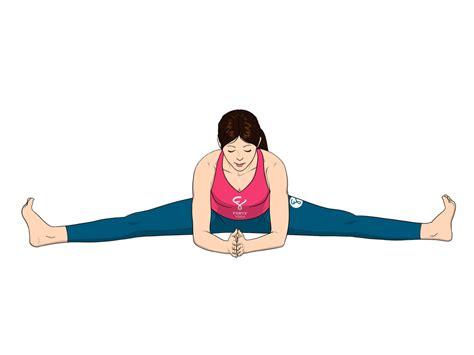 Wide Angle Seated Forward Bend Yoga Pose