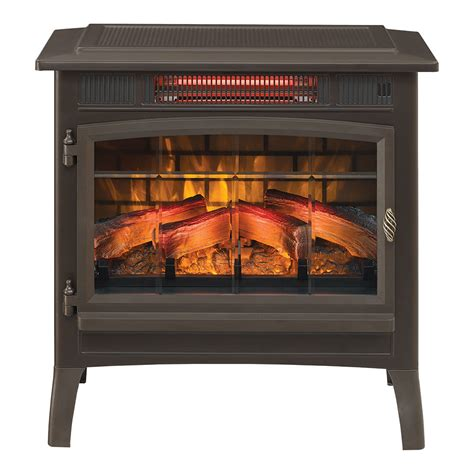 duraflame electric fireplace logs duraflame 3d bronze infrared electric fireplace stove with