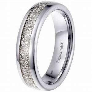 tungsten meteorite 6mm unisex engagement wedding eternity band With bespoke mens wedding rings