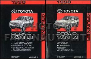 1998 Toyota 4runner Repair Shop Manual 2 Volume Set Reprint