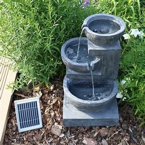solar springbrunnen nsp12 mit akku led beleuchtung fur With französischer balkon mit brunnen garten bewässerung