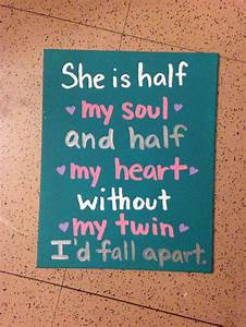 686 best Twin s... Twin Sister Cute Quotes