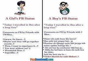 Girls vs Boys Facebook Status Funny Pics