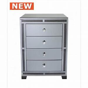 smoked millanno mirror 4 drawer cabinet With kitchen cabinets lowes with smoked glass candle holders
