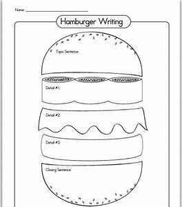 18 best images of hamburger paragraph worksheet With burger writing template