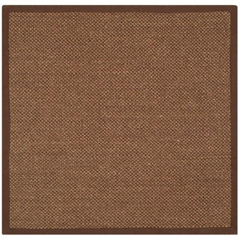 4 ft area rugs safavieh fiber brown 4 ft x 4 ft square area rug