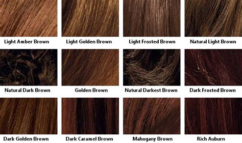 This Hair Color Chart For Brown Shades Available Lorreal