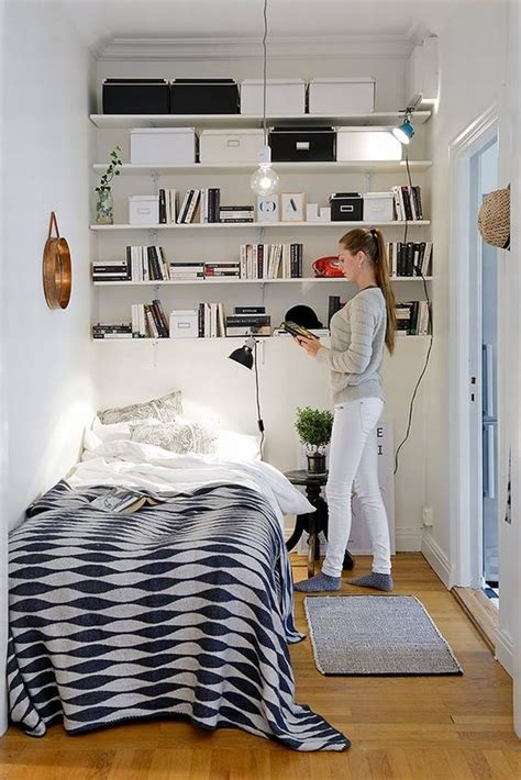 smart storage ideas for tiny bedrooms shelterness 25 smart storage ideas for tiny bedrooms shelterness 25 | 19 open shelving above the bed is the best solution for such a small bedroom