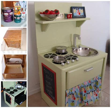 Diy Play Kitchen From An Old Nightstand Home Kids Kitchen