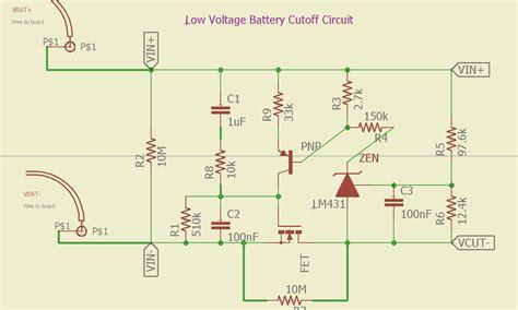 Zener Low Voltage Cutoff Circuit Not Working