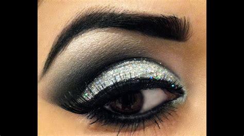 dramatic glitter smokey eye prom makeup youtube