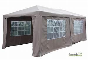 tonnelle de jardin avec toit coulissant With beautiful rideaux pour tonnelles exterieur 4 tonnelle de jardin bois exotique