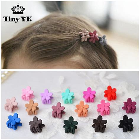 15 Pcs Mix Color New Acrylic Flower Hair Claws Girls Hair