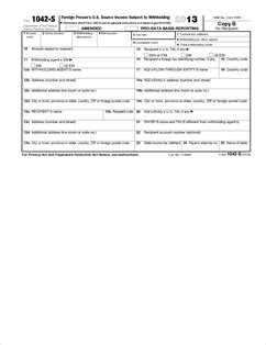 form 1042 s fillable foreign person s u s source income