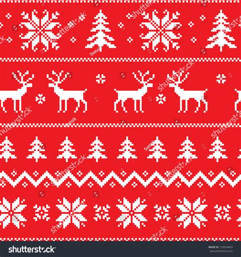 Try these tips to expand your search Seamless Pattern Winter Sweater Design Deer Stock Vector ...