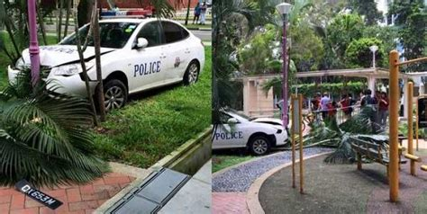 Police Car Spotted Speeding, Ends