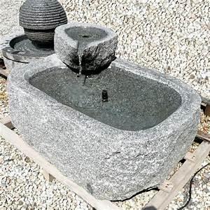 Fontaine D Exterieur En Pierre : gartendekor produits en pierre naturelle pour votre jardin ~ Premium-room.com Idées de Décoration