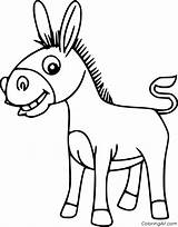 Mule Coloring Coloringall Cartoon sketch template