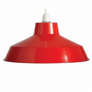 retro style red pendant shade light fitting by country With lamp shades and light fittings