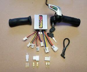 24v 500 watt controller and throttle with key brushed motor ebike scooter ebay