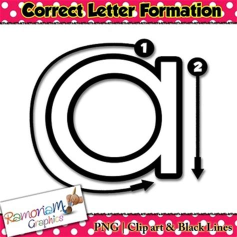 alphabet tracing letters correct formation clip art