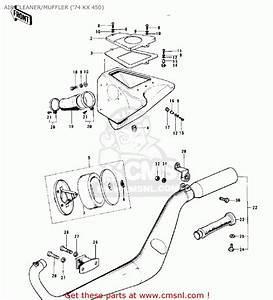Kawasaki Kx450 1974 Air Cleaner  Muffler   U0026 39 74 Kx 450