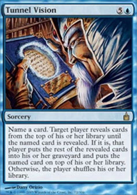 mtg mill deck tapped out tunnel vision much commander edh mtg deck
