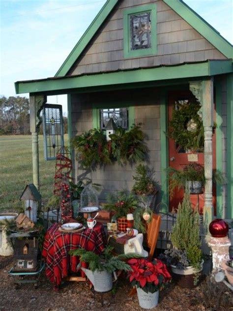 christmas picnic  decoration cabane jardin cabanon