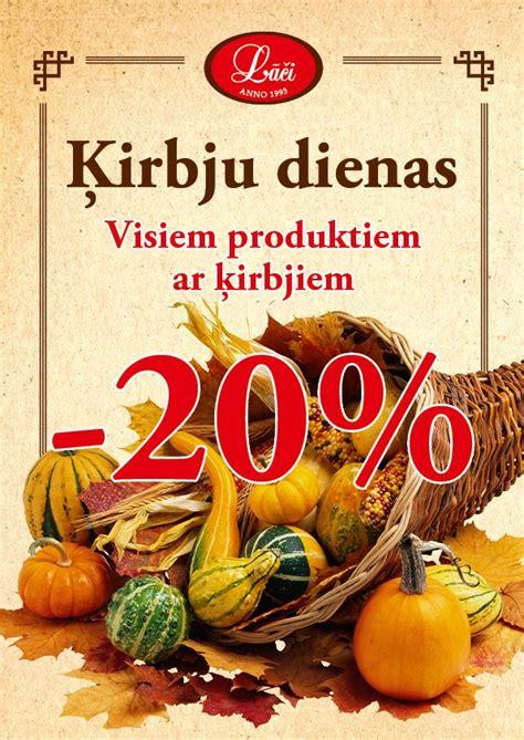 Reklāmas plakāts atlaides visiem Ķirbju produktiem   Motor ...