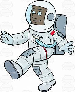 A Black Male Astronaut Enjoys Him Time Walking On A ...