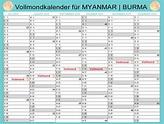 Vollmond Kalender 2019 Thailand - calendarios HD